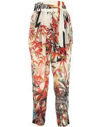 DSquared² Printed Silk Pant 38 - Multicolour