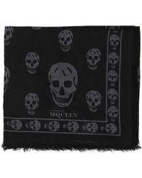 Alexander McQueen - Skull Print Scarf - Lyst