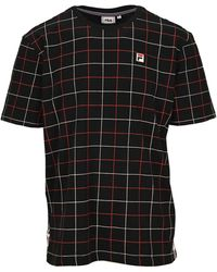 Fila Check Print T-shirt - Black