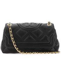 Tory Burch Fleming Soft Mini Shoulder Bag - Black