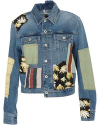 Loewe Patchwork Denim Jacket - Blue