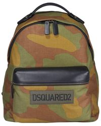 DSquared² Logo Printed Camouflage Backpack - Multicolour