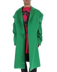 Raf Simons Oversized Single Breasted Coat - Green