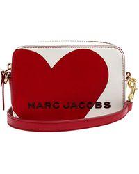 Marc Jacobs - Logo Heart Detail Crossbody Bag - Lyst