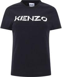 KENZO Logo Print T-shirt - Black
