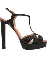 Francesco Russo Woven Strap Platform Sandals - Black
