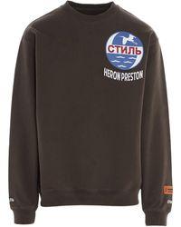 Heron Preston Men's Hmba014f20jer0016001 Green Sweatshirt