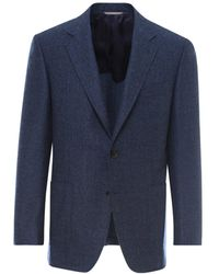 Canali Single-breasted Blazer - Blue