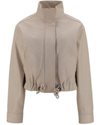 PROENZA SCHOULER WHITE LABEL Leather Cropped Jacket - Natural