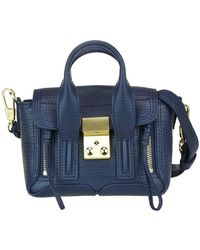 3.1 Phillip Lim Pashli Nano Satchel Bag - Blue