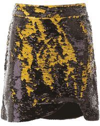 Ganni Sequins Mini Skirt - Yellow
