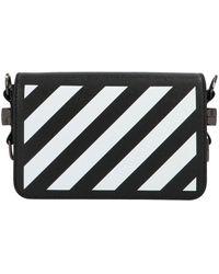 Off-White c/o Virgil Abloh Diag Flap Mini Crossbody Bag - Black