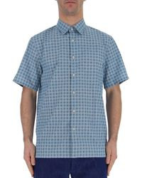 Prada - Patterned Short-sleeve Shirt - Lyst