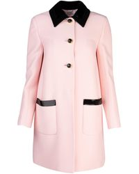 Miu Miu Longline Tailored Blazer - Pink