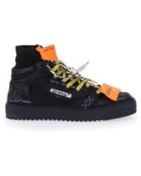 Off-White c/o Virgil Abloh Black Off Court 3.0 High-top Sneakers