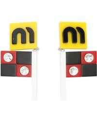 Miu Miu - Flag Earrings - Lyst