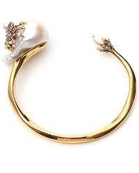 Alexander McQueen Embellished Spider Pearl Bracelet - Metallic