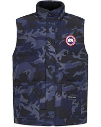 Canada Goose Freestyle Crew Quilted Nylon Vest - Blue