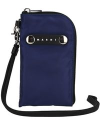 Marni Logo Plaque Phone Case - Blue