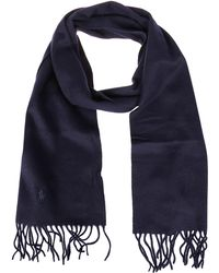 Polo Ralph Lauren Logo Embroidered Scarf - Blue