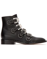 Givenchy Multi-strap Studded Boots - Black