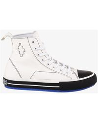 Marcelo Burlon Cross Embroidered High-top Trainers - White