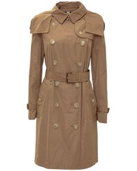 Burberry Kensington Double-breasted Trench Coat - Natural