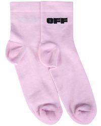 Off-White c/o Virgil Abloh Socks With Logo - Purple