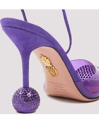 Aquazzura Pointed-toe Pumps - Purple