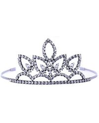 Saint Laurent - Crystal Embellished Tiara - Lyst