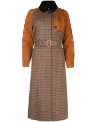 Ferragamo Single Breasted Trench Coat - Brown
