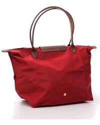 Longchamp Large Le Pliage Original Shoulder Bag - Red