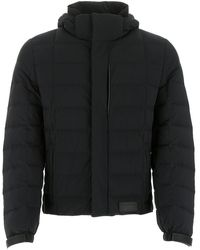 Prada Hooded Puffer Jacket - Black