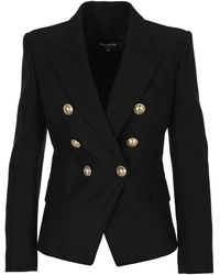 Balmain Double Breasted Blazer - Black