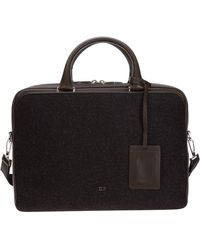 Dior Logo Two-tone Briefcase - Brown