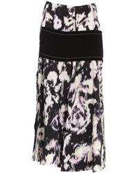 3.1 Phillip Lim Printed Flared Skirt - Black
