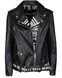 Golden Goose Deluxe Brand Graffiti Biker Jacket - Black
