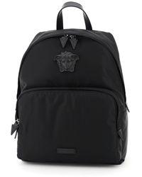 Versace Medusa Nylon Backpack - Black