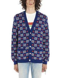 Gucci Blue Cotton Cardigan