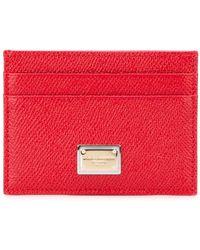 Dolce & Gabbana 'dauphine' Cardholder - Red