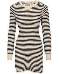 Philosophy Di Lorenzo Serafini Striped Knit Dress - Multicolour