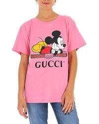 Gucci X Disney Oversized T-shirt - Pink