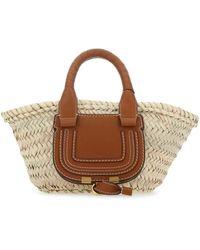 Chloé Mini Marcie Basket Bag - Natural