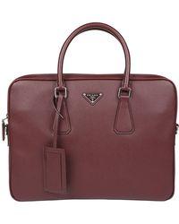 Prada - Classic Leather Briefcase - Lyst