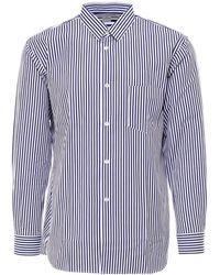 Comme des Garçons Pinstripe Shirt - Blue