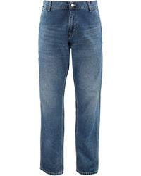 Carhartt WIP Rear Logo Patch Oversized Jeans - Blue