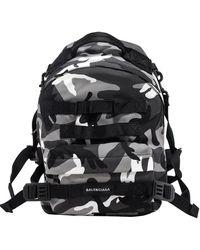 Balenciaga Army Multicarry Small Backpack - Black