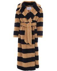 Max Mara Teddy Alpaca, Wool And Silk Coat - Multicolour