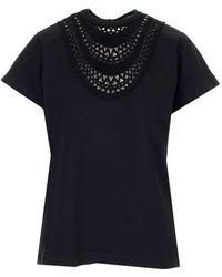 Alaïa Broderie Anglaise T-shirt - Black