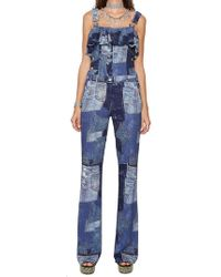 Moschino - Patchwork Denim Dungarees - Lyst